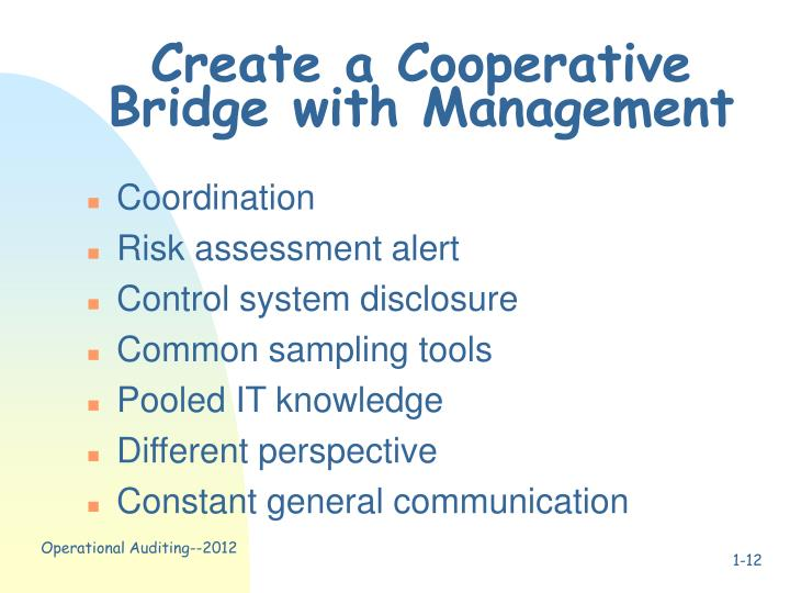 Create a Cooperative Bridge with Management