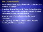 the d day assault