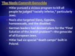 the nazis commit genocide
