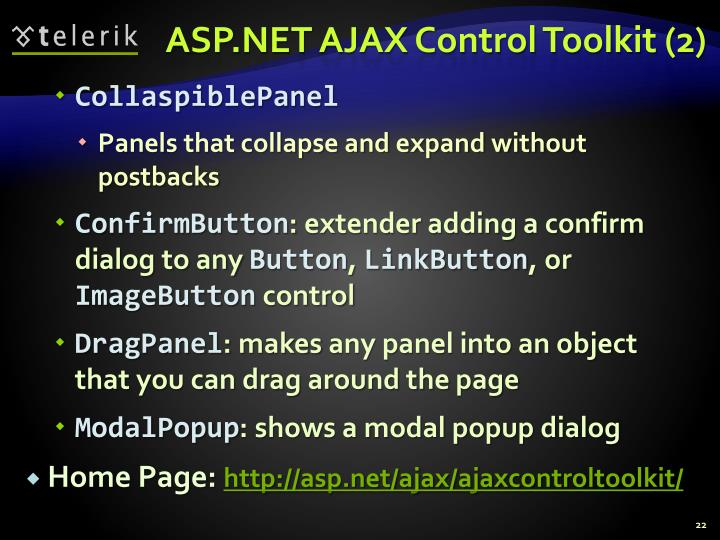 ASP.NET AJAX Control Toolkit (2)