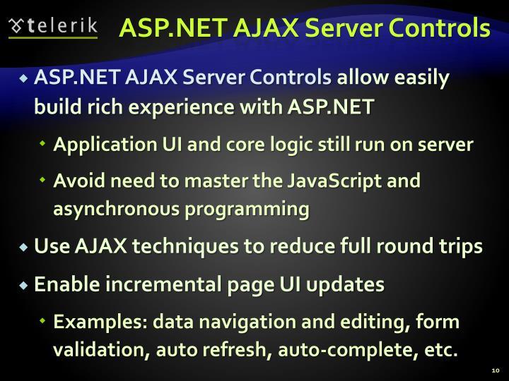 ASP.NET AJAX Server Controls