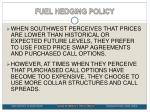 fuel hedging policy