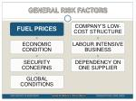 general risk factors