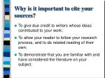 why is it important to cite your sources