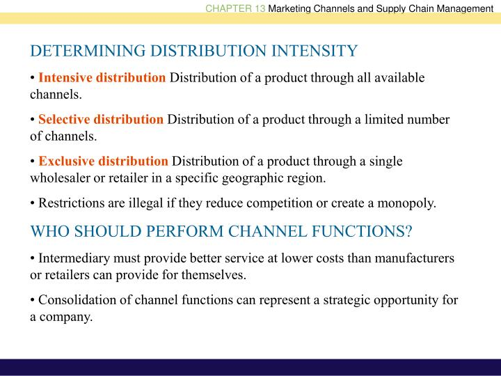 DETERMINING DISTRIBUTION INTENSITY