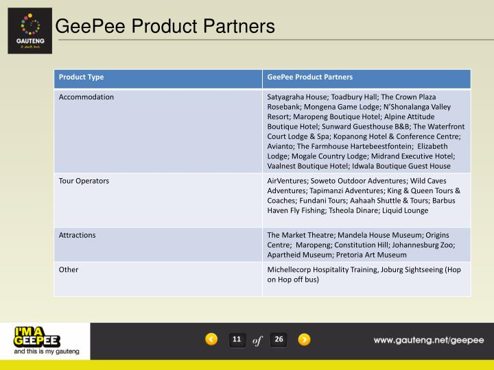 GeePee Product Partners