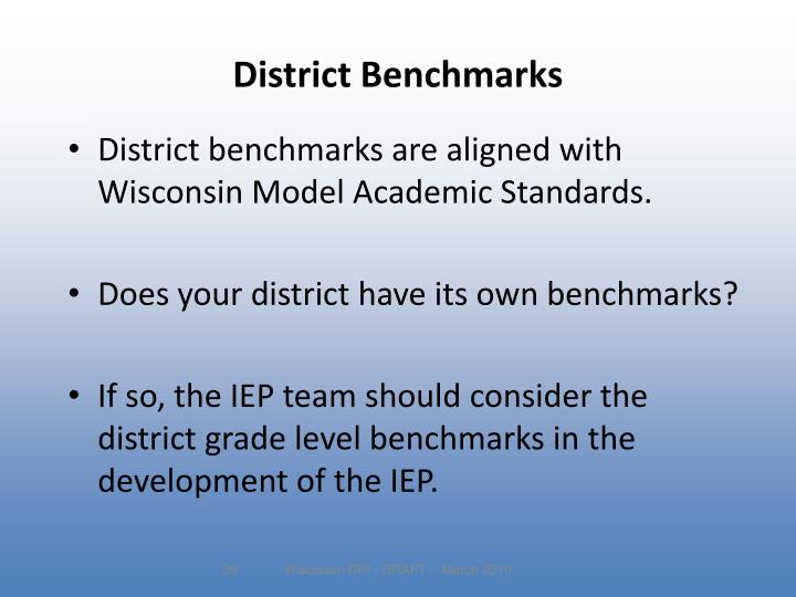 District Benchmarks