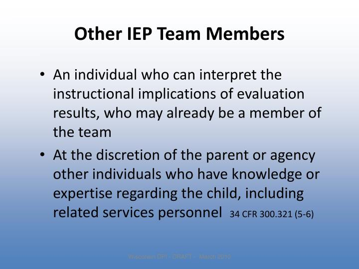 Other IEP Team Members