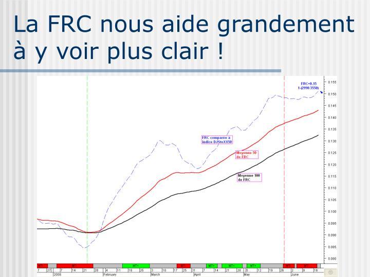 La FRC nous aide grandement
