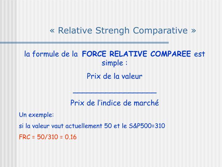«Relative Strengh Comparative»