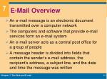 e mail overview