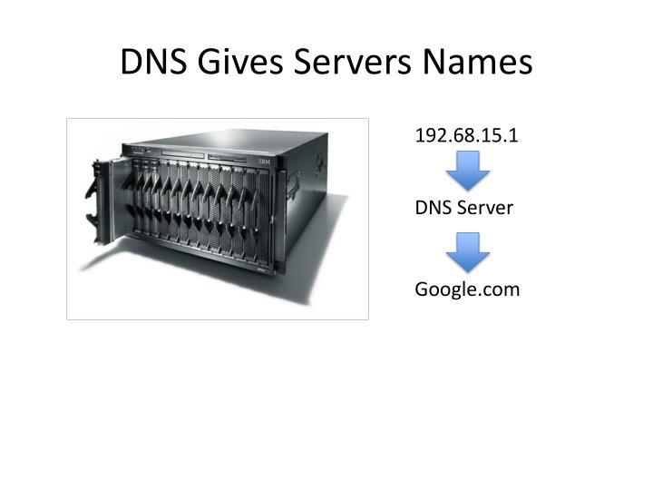 DNS Gives Servers Names