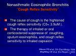 nonasthmatic eosinophilic bronchitis cough reflex sensitivity