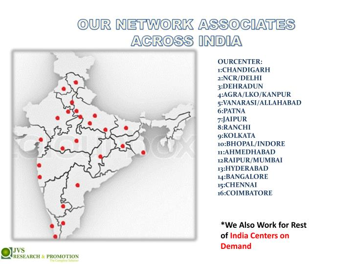 OUR NETWORK ASSOCIATES ACROSS INDIA