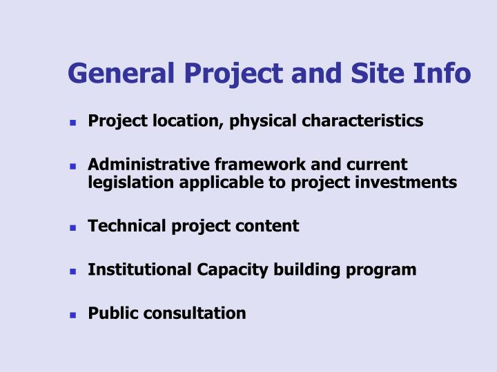 General Project and Site Info