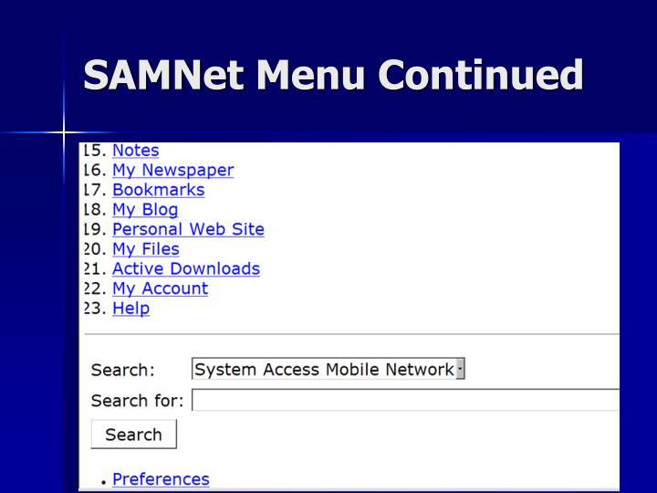 SAMNet