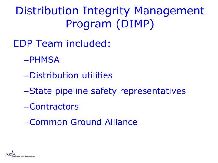 Distribution Integrity Management Program (DIMP)