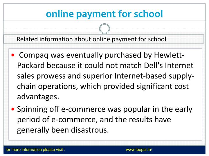 online payment for school n.
