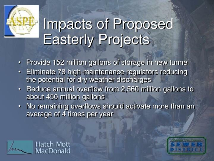 Impacts of Proposed Easterly Projects