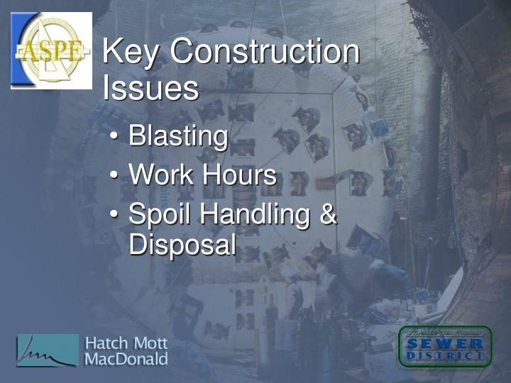 Key Construction Issues