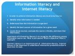 information literacy and internet literacy