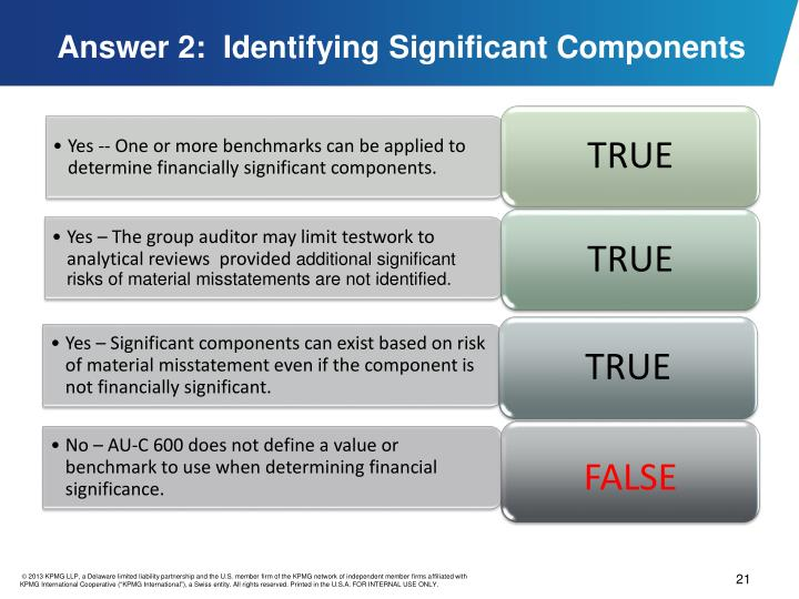 Answer 2:  Identifying Significant Components