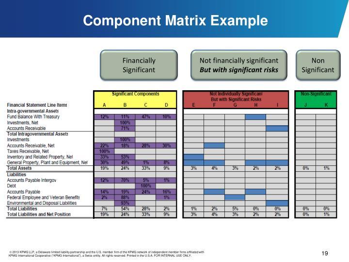 Component Matrix Example