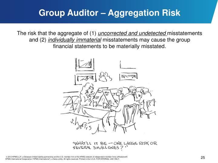 Group Auditor – Aggregation Risk