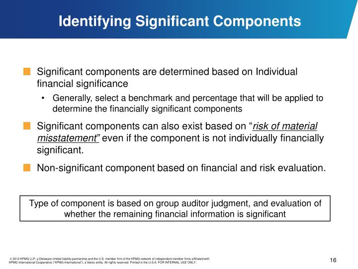 Identifying Significant Components