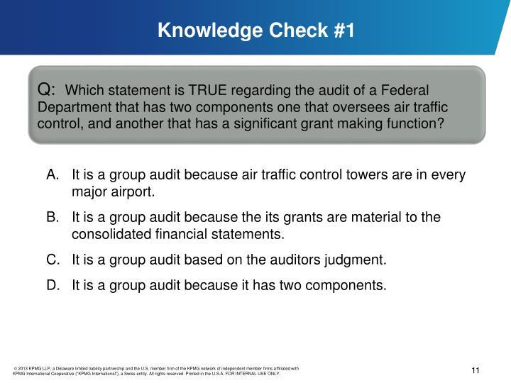 Knowledge Check #1