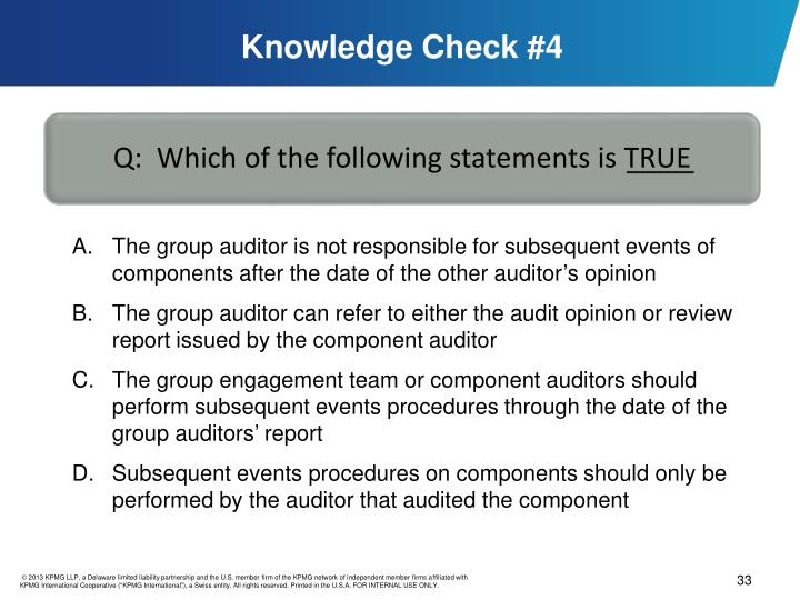 Knowledge Check #4