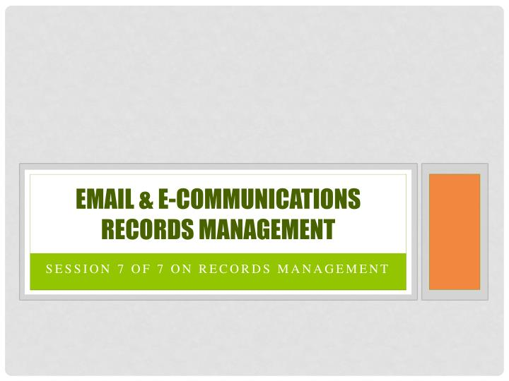 email e communications records management n.
