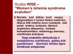 studija wise women s ishemia syndrome evalution