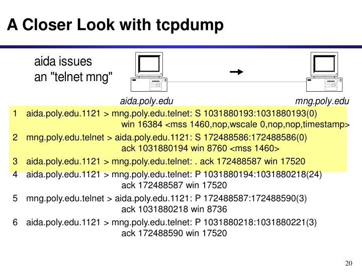A Closer Look with tcpdump