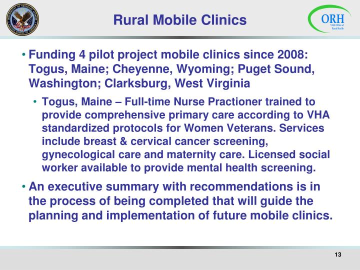 Rural Mobile Clinics