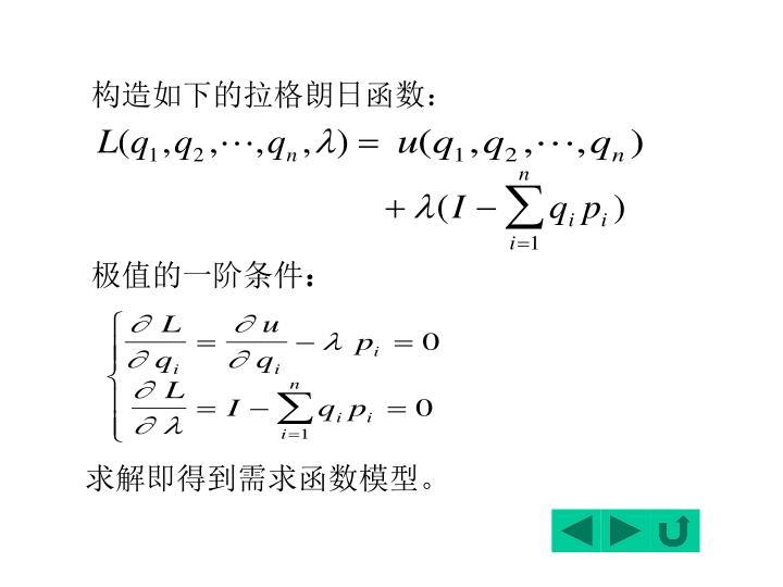 构造如下的拉格朗日函数: