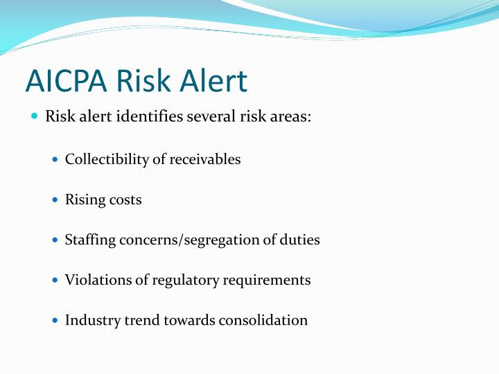 AICPA Risk Alert
