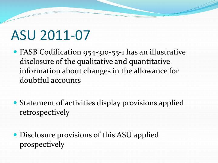ASU 2011-07