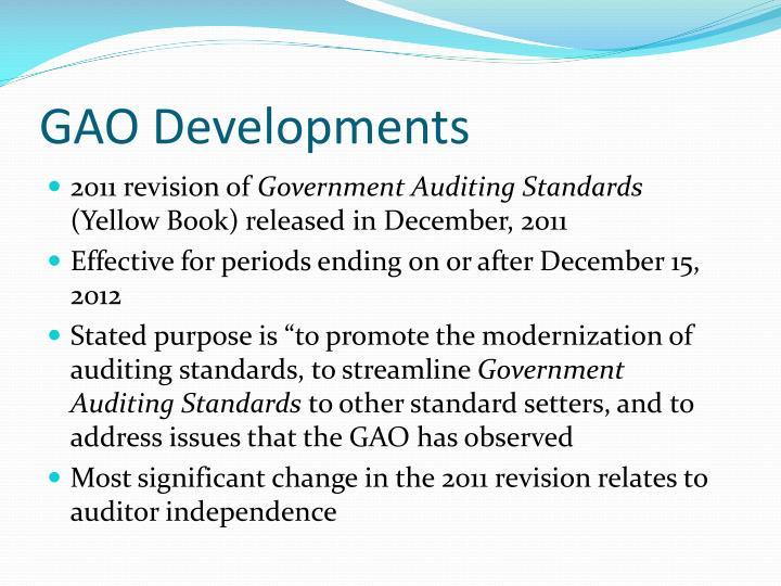 GAO Developments