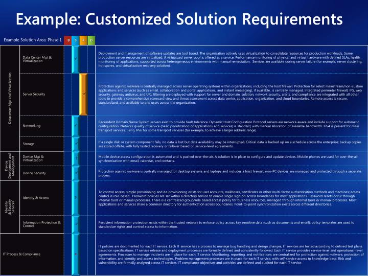 Example: Customized Solution Requirements