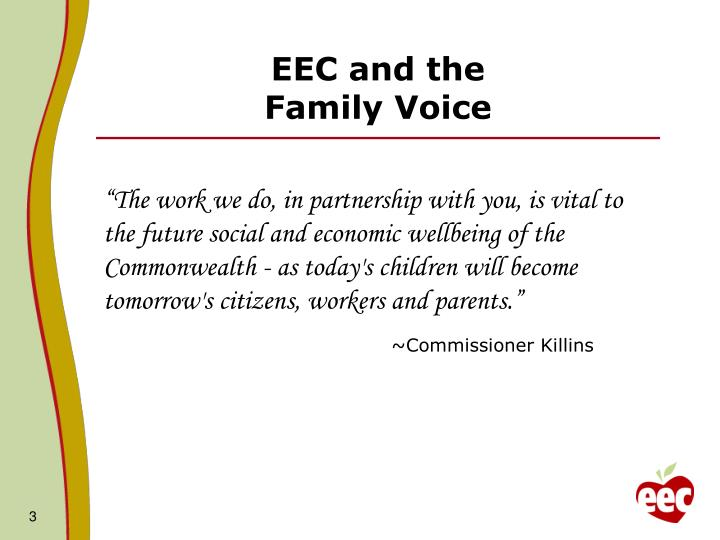 Eec and the family voice