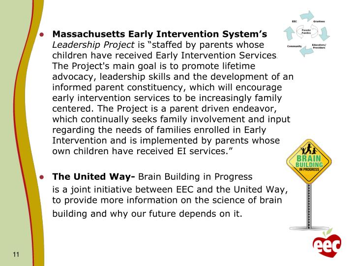 Massachusetts Early Intervention System's