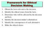 framework for ethical decision making