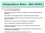 independence rules sec aicpa1