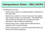 independence rules sec aicpa2