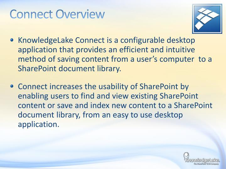Connect Overview