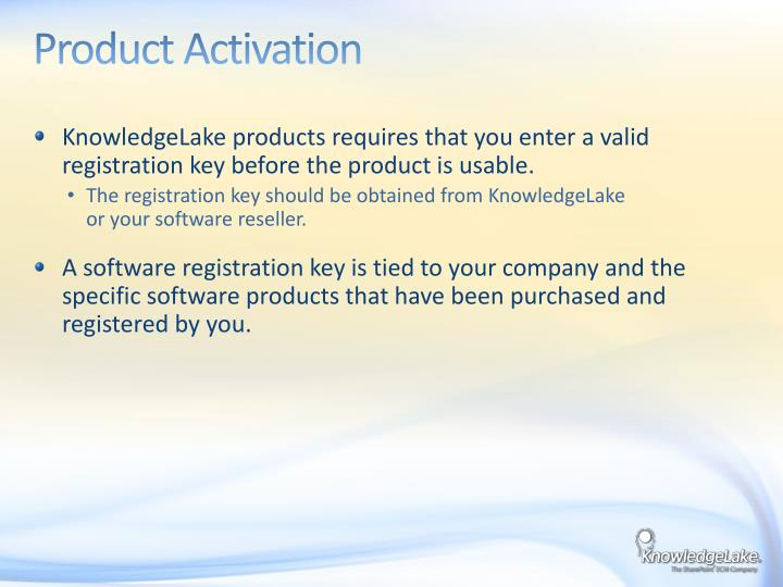 Product Activation