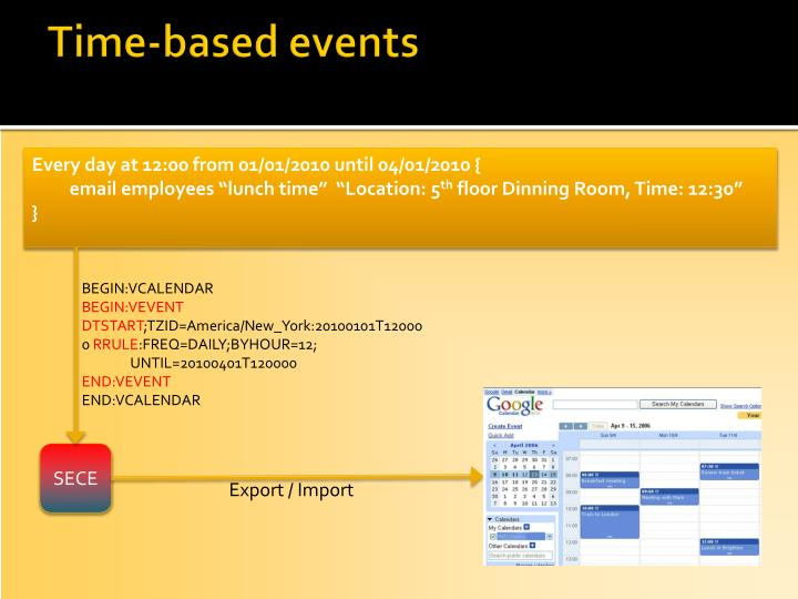 Time-based events