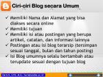 ciri ciri blog secara umum