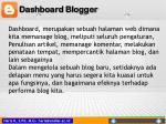 dashboard blogger